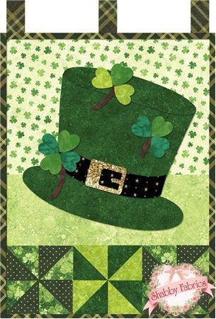 Little Blessings - Shamrock Celebration Pattern: Full Set of 12 patterns available here - buy all 12 and save 20%!Let the Little Blessings bring you cheer all year long!  Jennifer Bosworth of Shabby Fabrics has created this wallhanging series using some of her favorite designs from previous quilts as well as adding new ones!&nbsp…