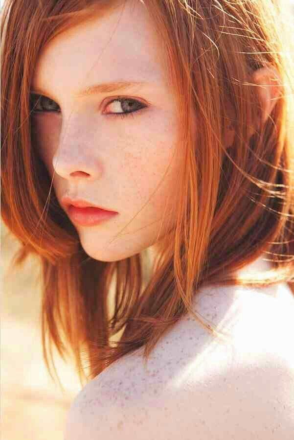 Natural Red Hair Look