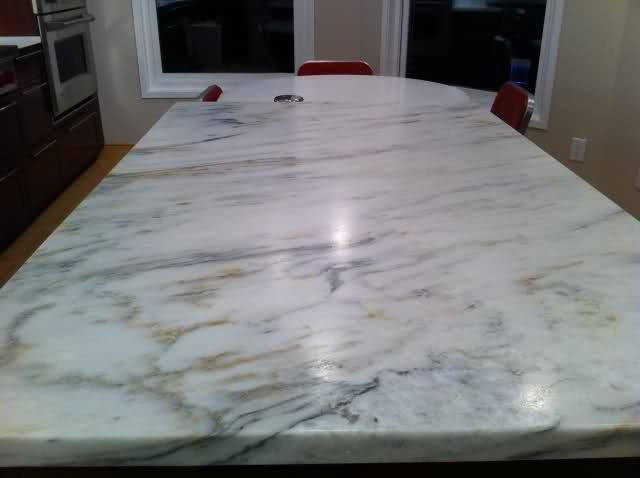 Countertop That Looks Like Marble : marble look quartz countertop 95% done! Marble w/quartz, polished w ...