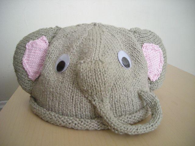 Knitting Pattern For Elephant Hat : elephant hat Sew/Crochet/Knit for Baby Pinterest