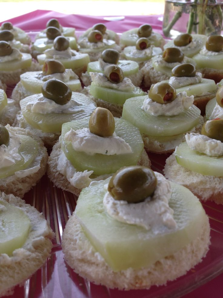 ... cucumber on mix add more cream cheese to cucumber then top with green