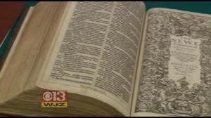 Great WJZ piece gives some insight into the first edition of the King James Bible now housed in the Stevenson University Archives.