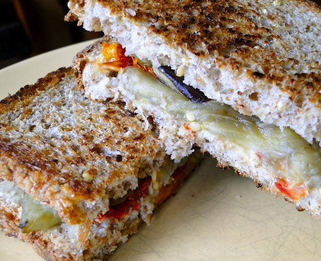 Grill 'Cheese' Eggplant Sandwich -Clean | Clean Eating Foodie | Pint ...