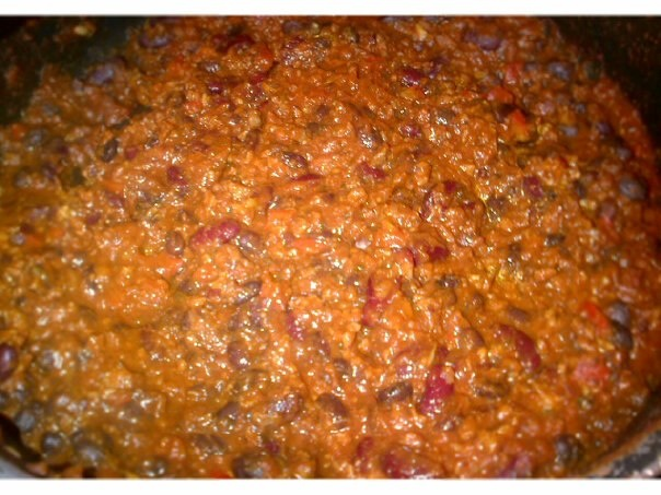 Vegan Two Bean Chili great to have before or after the game day or ...