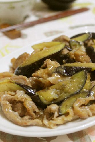 Whets Your Appetite* Pork and Eggplant Stir-Fry with Ginger and Miso