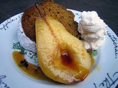 Blue Kale Road: Pumpkin Cake with Salted Honey Caramelized Pears and ...