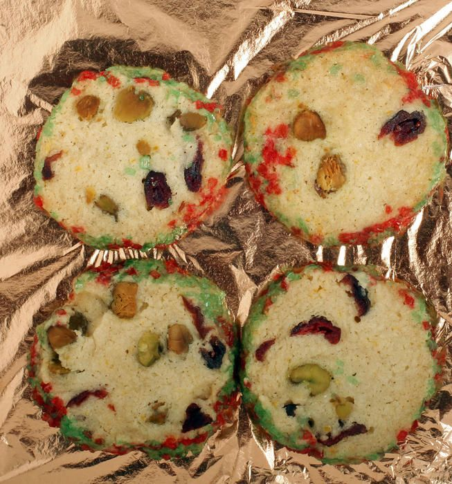 Pistachio-cranberry icebox cookies | Recipe
