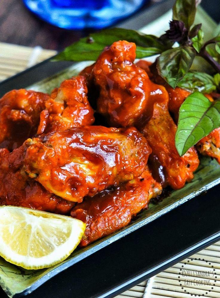 Spicy Sriracha Chicken Wings Recipe — Dishmaps