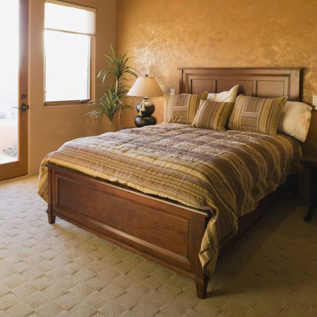 gold wall in bedroom my style