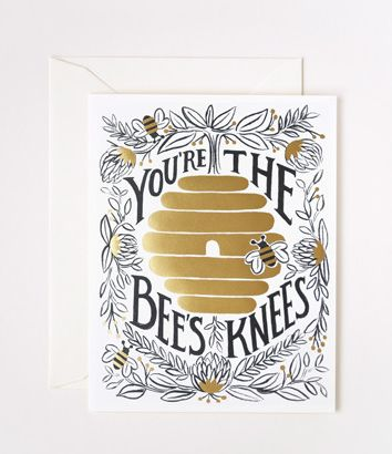 You're the Bees Knees Card - Rifle Paper | GD153 Morgue File | Pinter ...