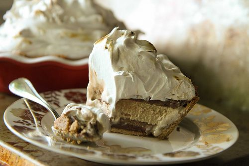 mores Ice Cream Pie with chocolate and coffee ice cream, chocolate ...