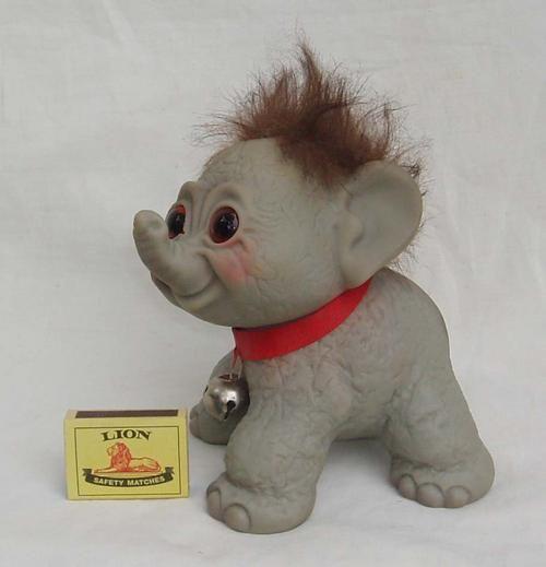 Image detail for -VERY RARE~VINTAGE THOMAS DAM~LARGE ELEPHANT TROLL~EXCELLENT ORIGINAL ...