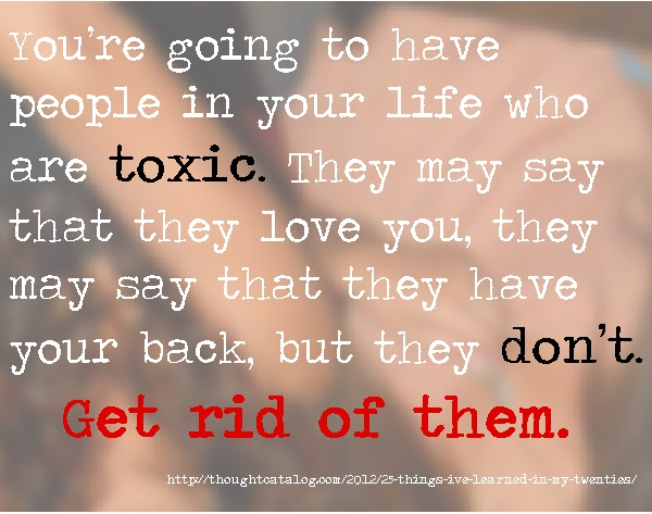how to get rid of toxic ex