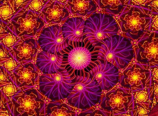Golden Lights Escher by Beatriz Cruz