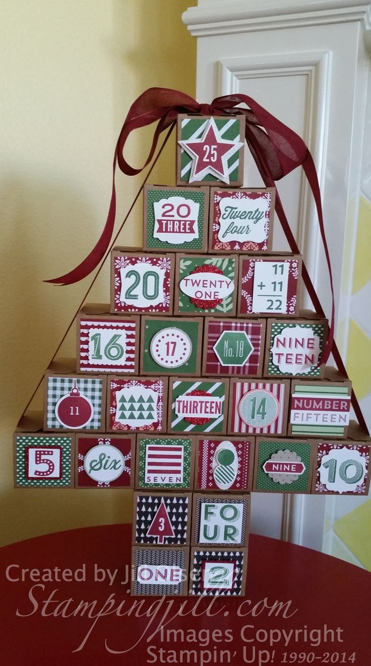 Christmas Advent Kit - www.stampingjill.com - Created by Jill Olsen, Stampin' Up! Demonstrator