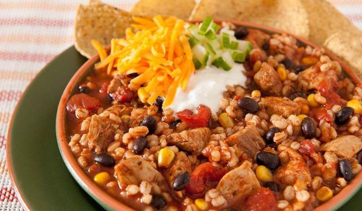 Slow-Cooker-Chicken-Barley-Chili-2 | crock pot | Pinterest