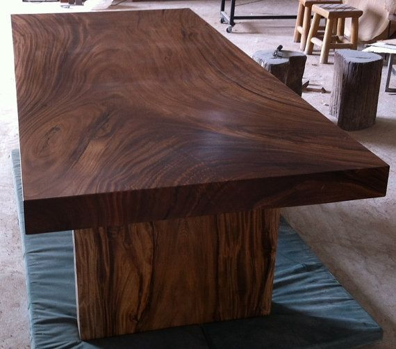 LOVE Dining Room Table Dining Table Reclaimed Solid Slab Acacia Wood