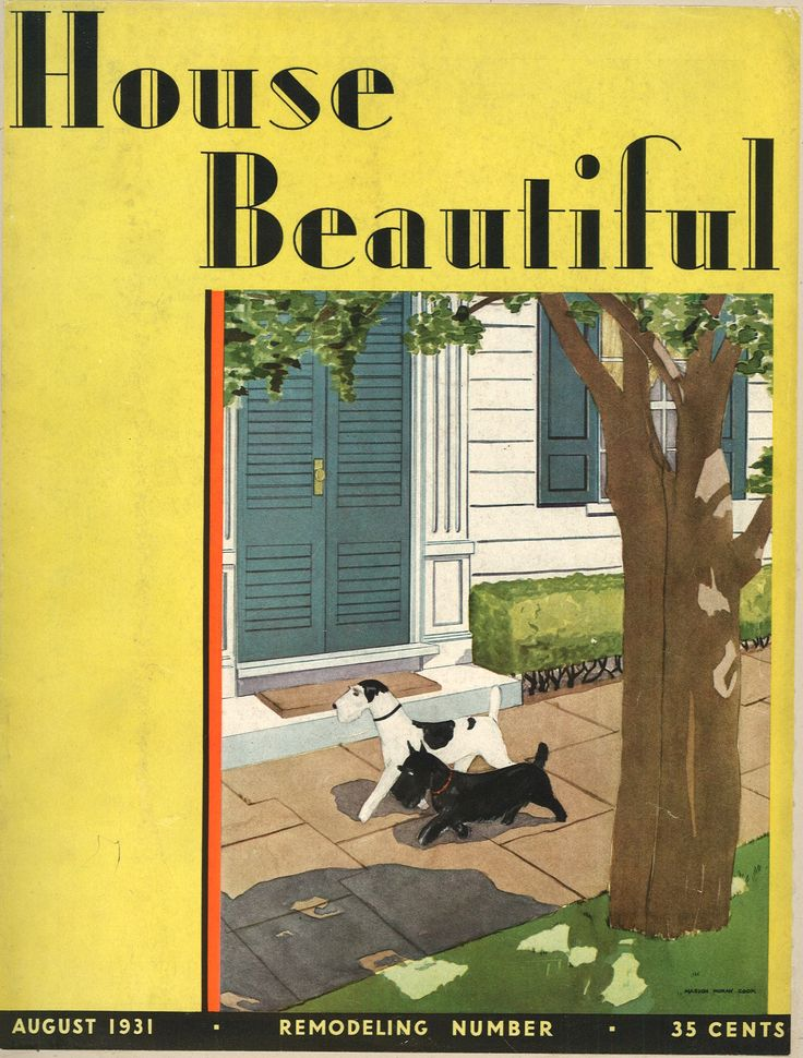 House Beautiful magazine August 1931 Vintage Magazine