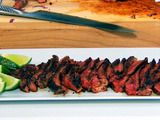 chili + cinnamon-rubbed steak tacos with cucumber-avocado salsa} made ...