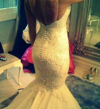 Beautiful mermaid style wedding gown