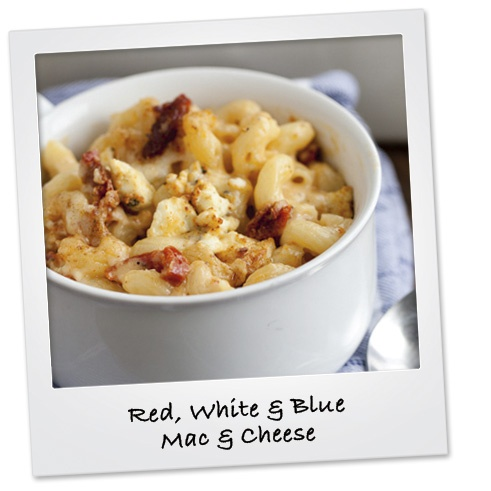 Red, White and Blue Mac & Cheese #july4 MONTEREY JACK, WHITE CHEDDAR ...