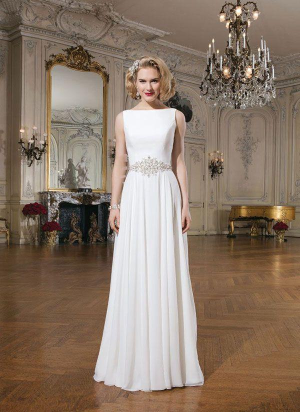 boat neck wedding dress with sash wedding dresses pinterest. Black Bedroom Furniture Sets. Home Design Ideas