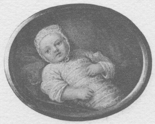 Marie Antoinette as baby, 1755.
