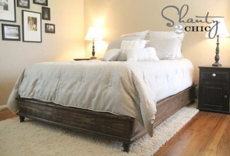 How to build a Chestwick Platform Bed - Queen Size.    via: ana white