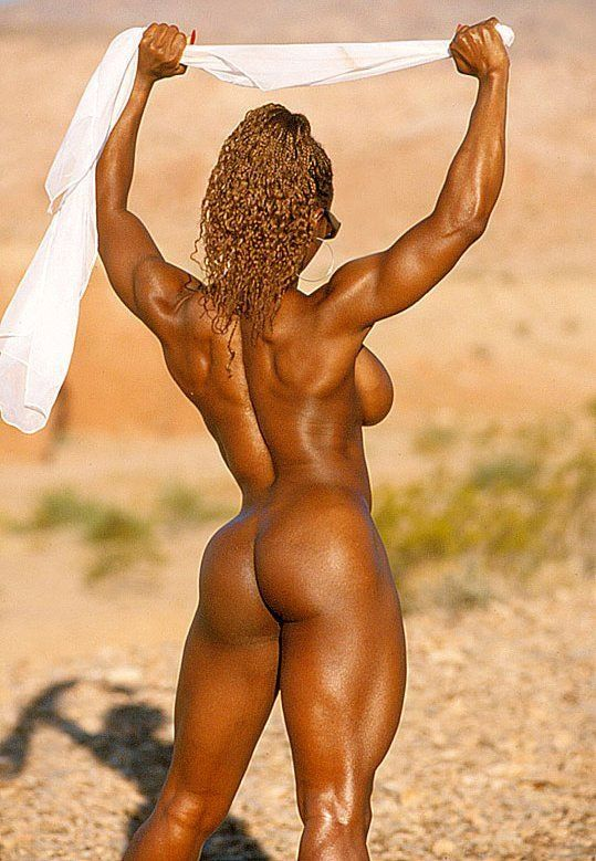 Ebony Muscle Women Nude | Sexy ebony bodybuilder nude in public beach | Nude Muscle Women
