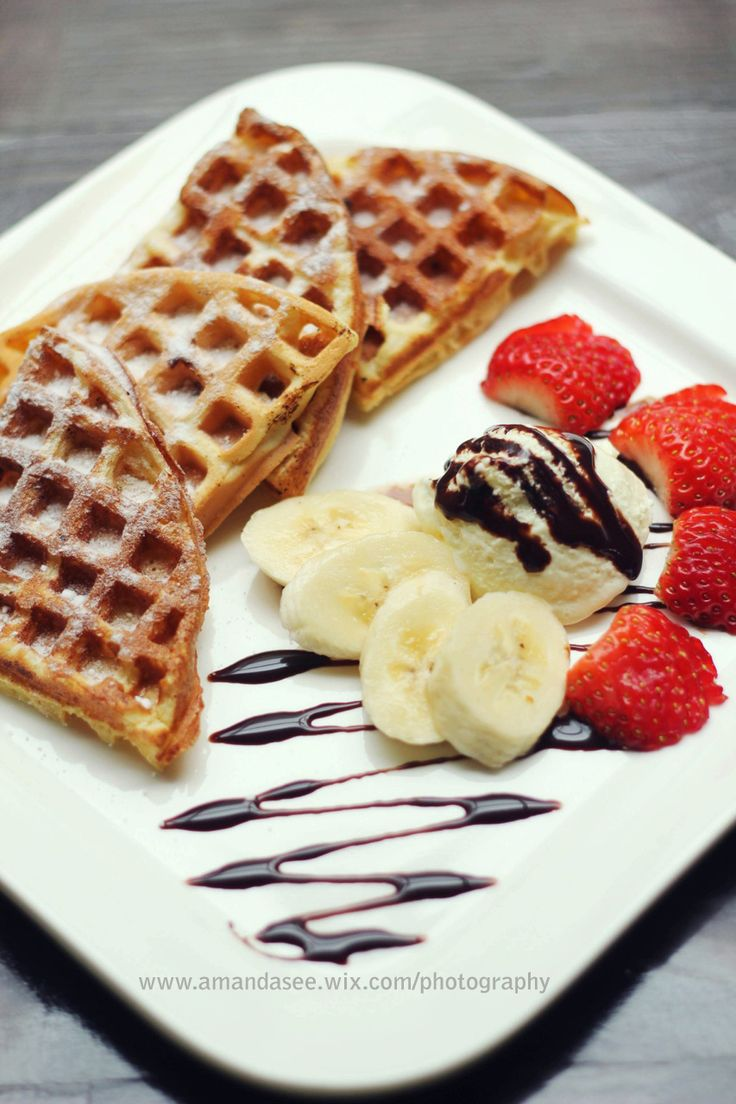 Yummy #Dessert - #Belgian #Waffles | Food for the Soul | Pinterest