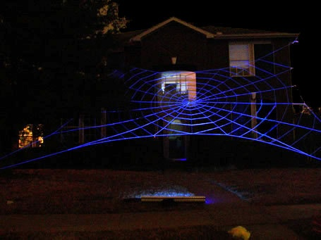 GlowWeb Rope Spider Web Halloween House Giant Inflatables Decoration ...