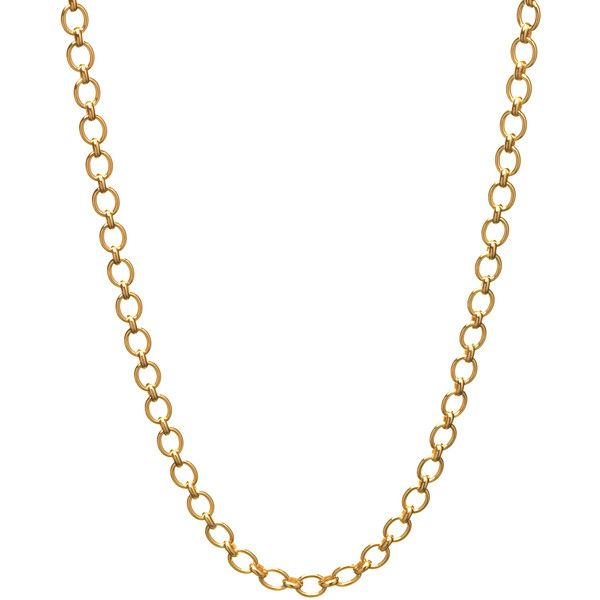 Classic Links of London Yellow Gold Necklace ($1,700) ❤ liked on Polyvore