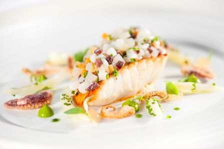 Pan-fried fillet of John Dory with Cornish squid, wild sea fennel ...