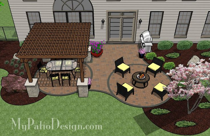 Curvy Patio with Shade My Patio Design Pinterest