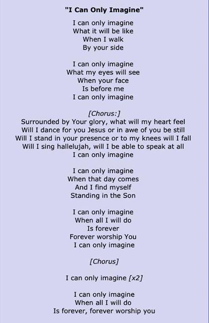 MercyMe - I Can Only Imagine Lyrics | MetroLyrics