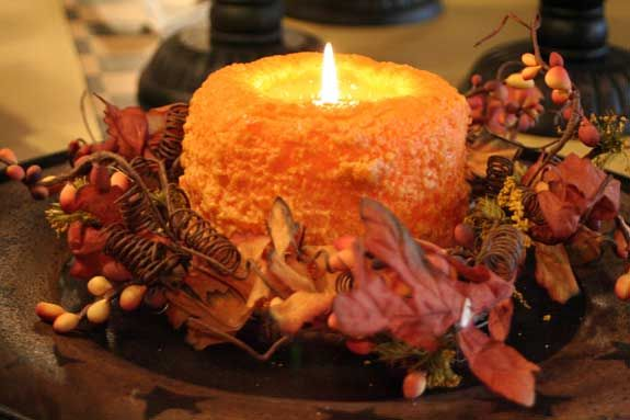 Thanksgiving centerpiece candle decorating pinterest