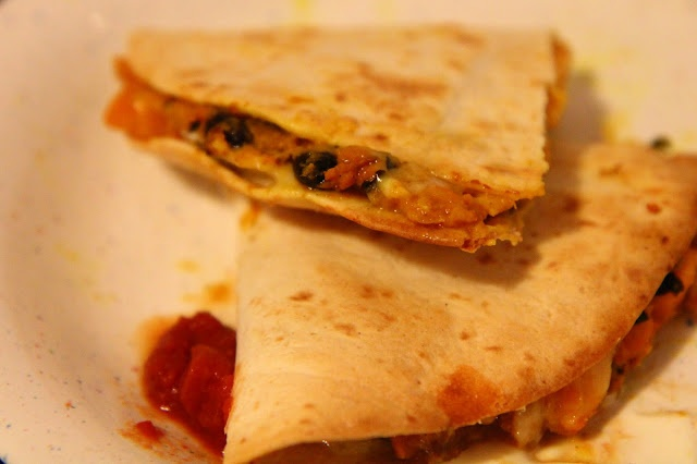 Curried Sweet Potato Quesadillas | and then I cooked...