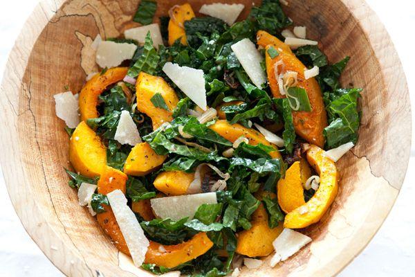 Roasted Squash & Kale Salad Ingredients: 1 medium butternut squash 1 ...