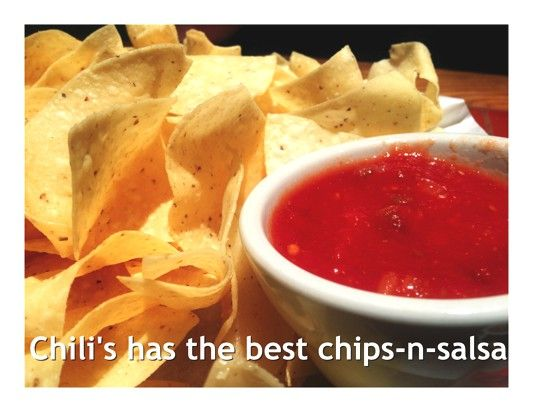 free chips n salsa at chilis