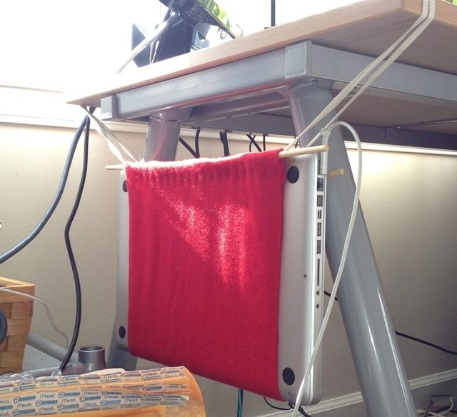 Make a hammock for your laptop.