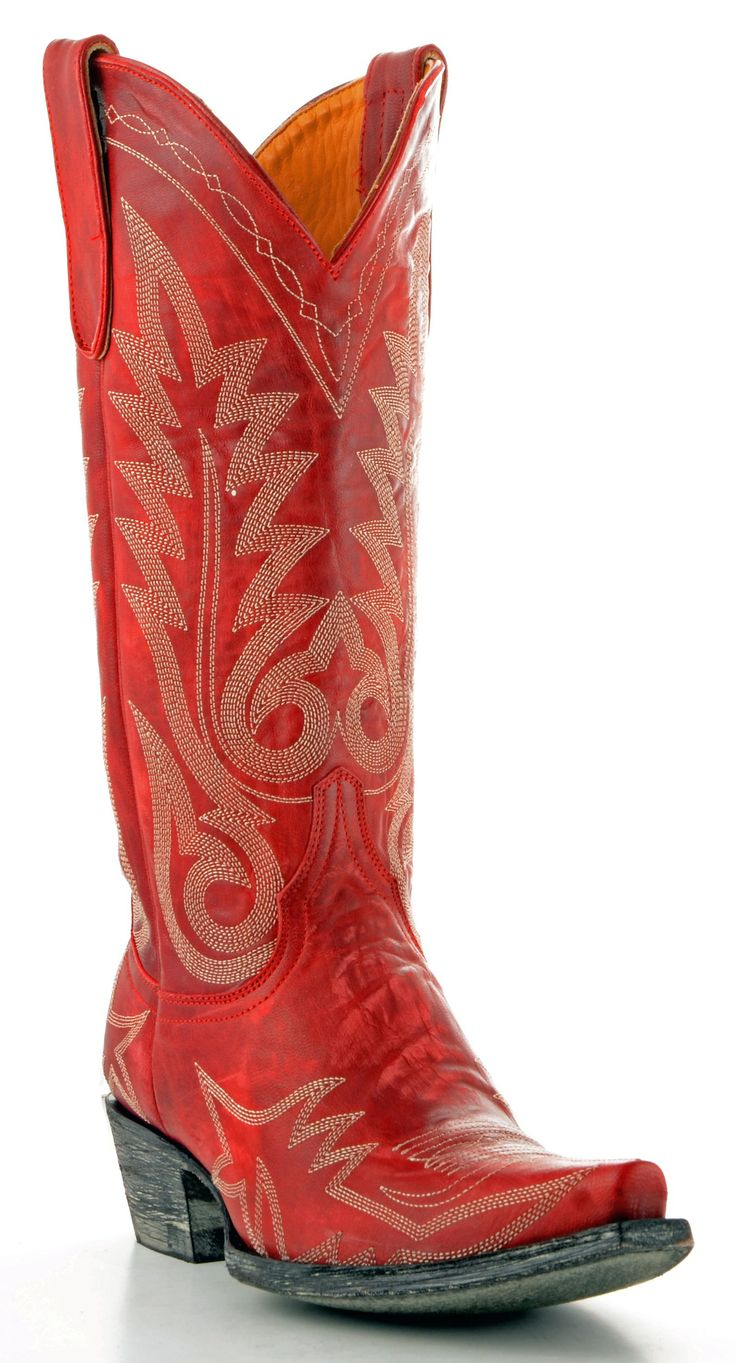 Beautiful Womenu0026#39;s New Distressed Leather Cowgirl Western Riding Boots Snip Toe Red | EBay