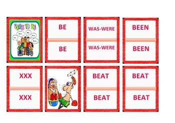 440 Game Cards- Irregular Verbs Funny Game- English/Foreig