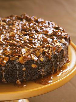 chocolate-almond upside-down cake - No pineapple or maraschino ...