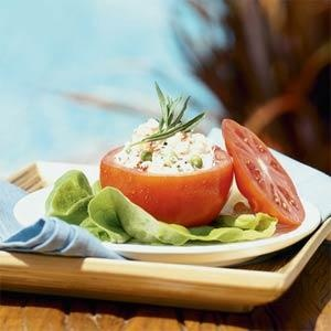 Crab Salad in Tomato Cups - Notes: Serve this salad with sourdough ...