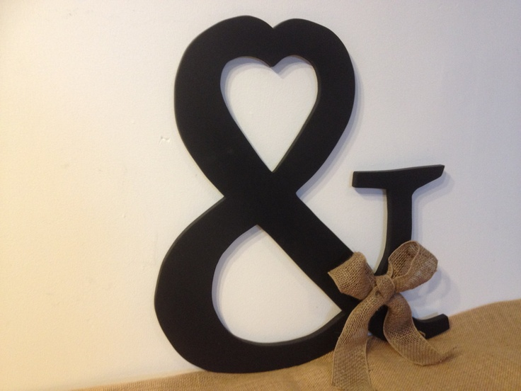 Large wooden and symbol ampersand rustic wedding for Ampersand decoration etsy