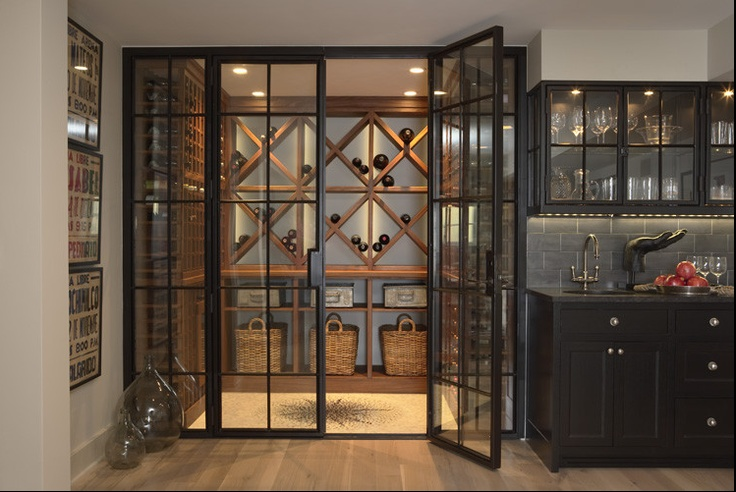 Glass Door To Wine Cellar Favorite Places And Spaces Pinterest