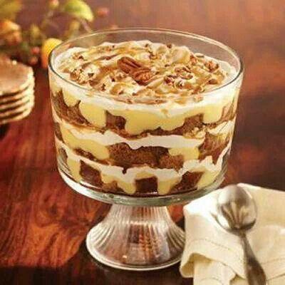 Pumpkin trifles | Cheesecakes/Parfaits/Trifles | Pinterest