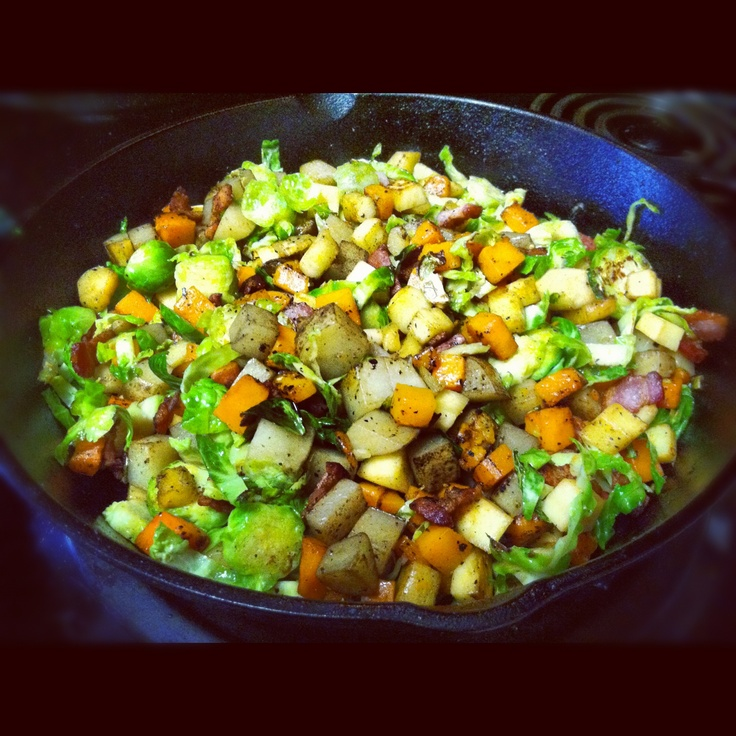 winter vegetable hash. This is being served as a side at my first ...