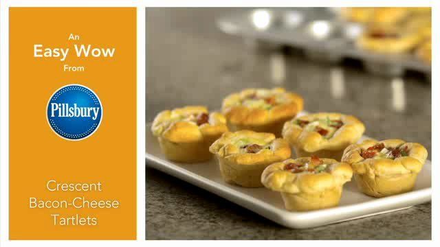 Crescent Bacon-Cheese Tartlets | Food | Pinterest