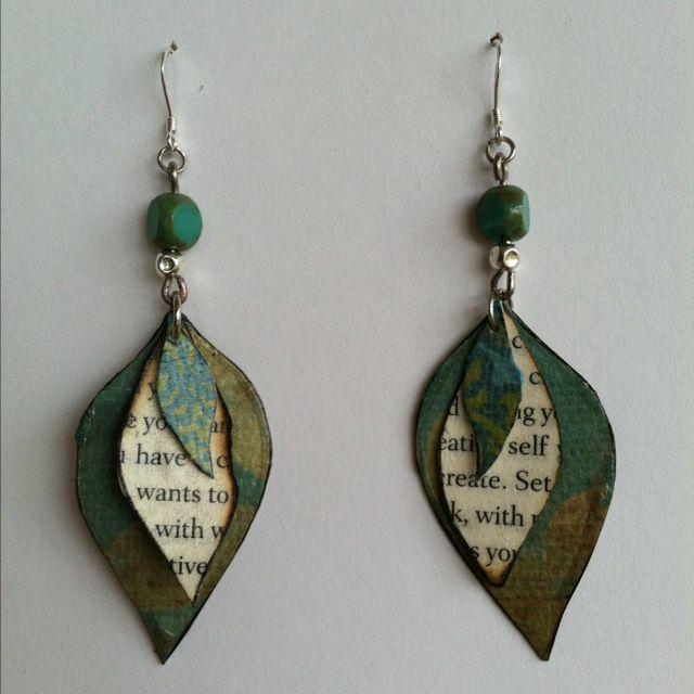 Hand made paper bead earringsHandmade Paper Earrings